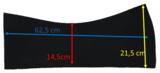 Losse Universele Western Neopreen inlagen 12 mm _