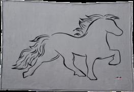 Fleece deken met paard