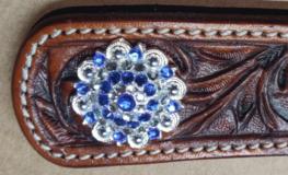 Concho Rhinestone Sapphire