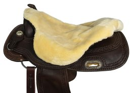 |SALE| Seatsaver Western met Knop Naturel SYNTHETIC