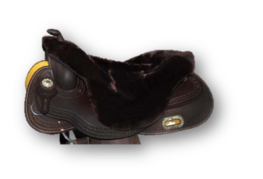 |SALE| Seatsaver Western met Knop Brown SYNTHETIC