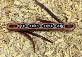 Waterloop Straps Black Beads   5 kleuren   1,9 cm
