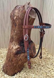 Western Hoofdstel Turquoise Beads | 4 kleuren |