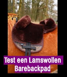 Test 2 weken een Lamswollen Barebackpad