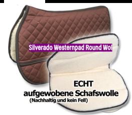 Silverado Westernpad Round Wol 70 cm