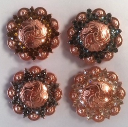 Rose Gold Concho 1-1/4