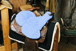 Seatsaver Western met Knop Baby Blue