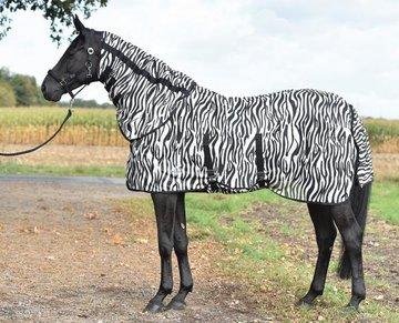 Vliegendeken Zebra met buikflap