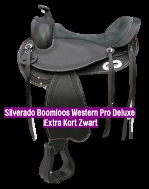 Silverado Boomloos Western Pro Deluxe Extra Kort Zwart