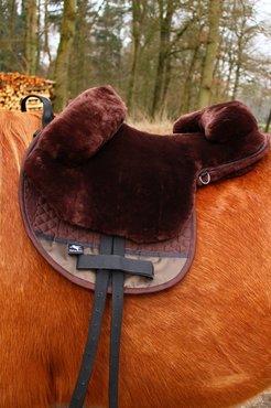 Barebackpad Lamswol Pony Mocca