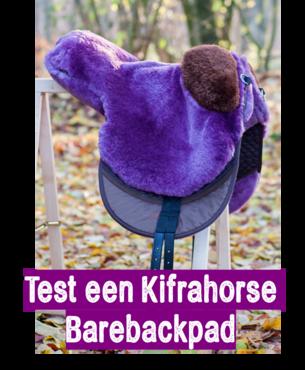 Test 2 weken een Kifrahorse Barebackpad