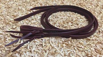 Leather Split Reins Dark Chestnut