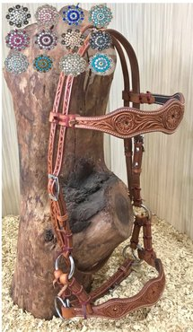 Sidepull Customize Concho Chestnut