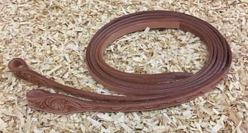 Leather Reins Tooling Russet