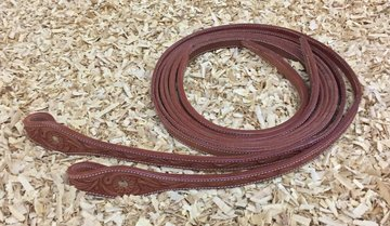 Leather Reins Tooling Chestnut