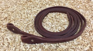Leather Reins Tooling Dark Chestnut