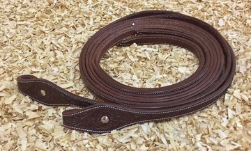 Leather Reins Tooling Brown