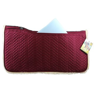 Lamsvel Westernpad Bordeaux