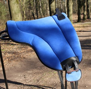 Barebackpad Support Suede Blauw