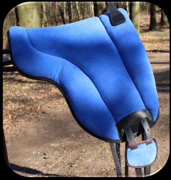 Barebackpad Support Suede Blauw