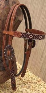 Western Hoofdstel Aztec Beads | 2 kleuren |