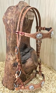 Sidepull Silver Concho Russet